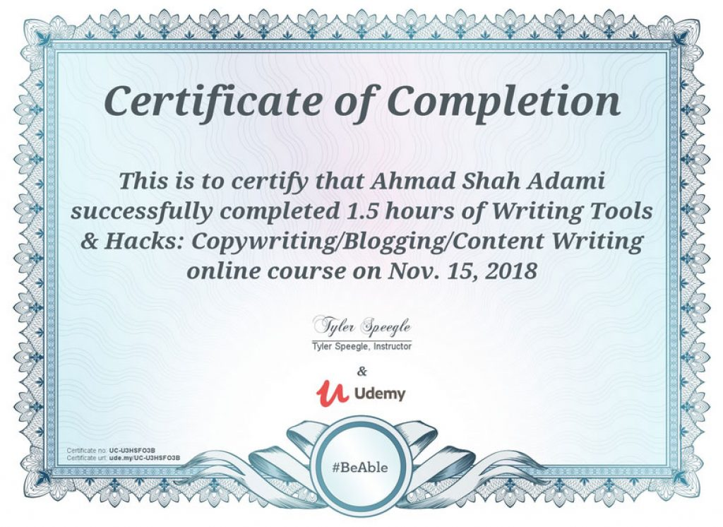 udemy certificate value sample completion fake conclusion url course useful issued genuine student