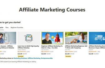 Udemy Affiliate Marketing Courses