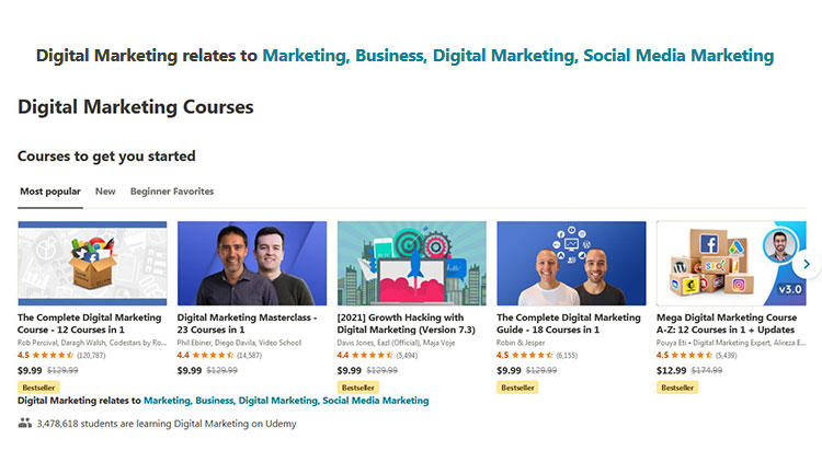 10+ Best Udemy Digital Marketing Courses with Certificate of Completion!